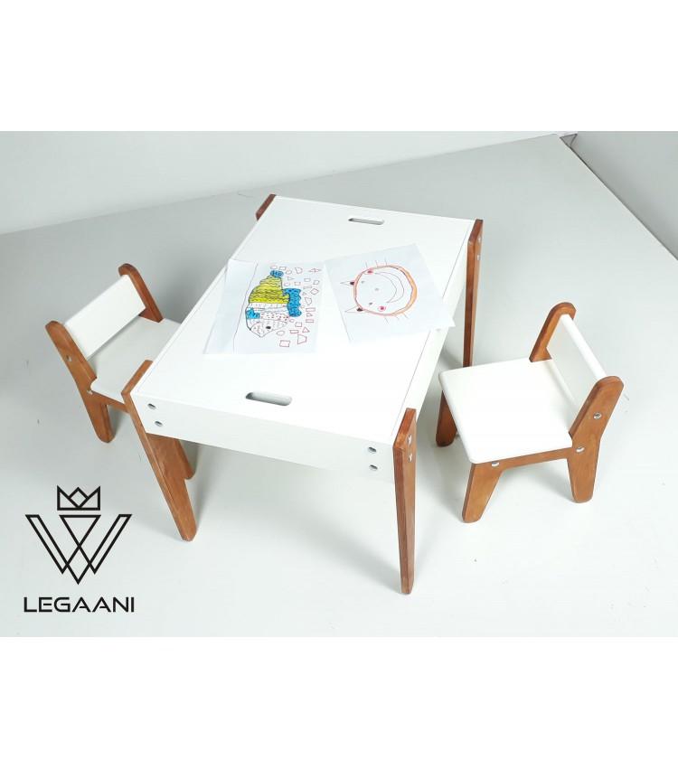 საბავშვო მაგიდა 2 სკამით